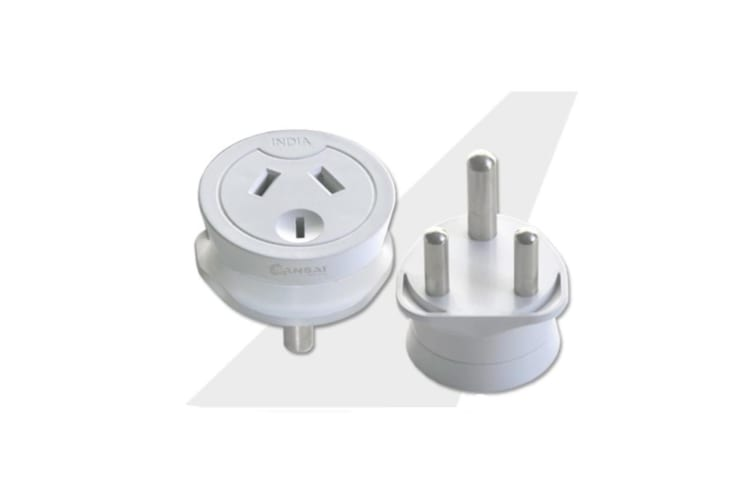 Sansai Travel Adaptor- India Outlet AU-NZ Socket to South Africa
