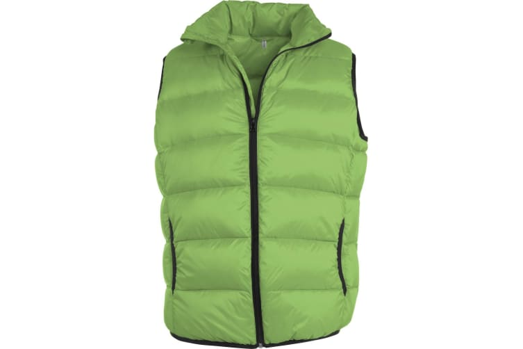 Kariban Mens Ultra Light Padded Casual Bodywarmer/Gilet (Lime/ Black) (M)