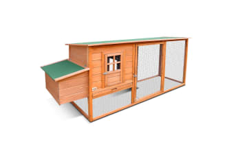 Wooden Hen Cock Chicken Coop - 2.5M