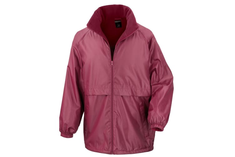 Result Mens Core Adult DWL Jacket (With Fold Away Hood) (Burgundy) (L)