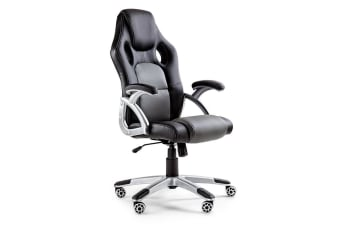 OVERDRIVE Racing Office Chair - PU Leather Seat Executive Computer Gaming Deluxe