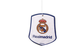 Real Madrid CF Official Football Crest Car Air Freshener (White/Yellow/Blue)