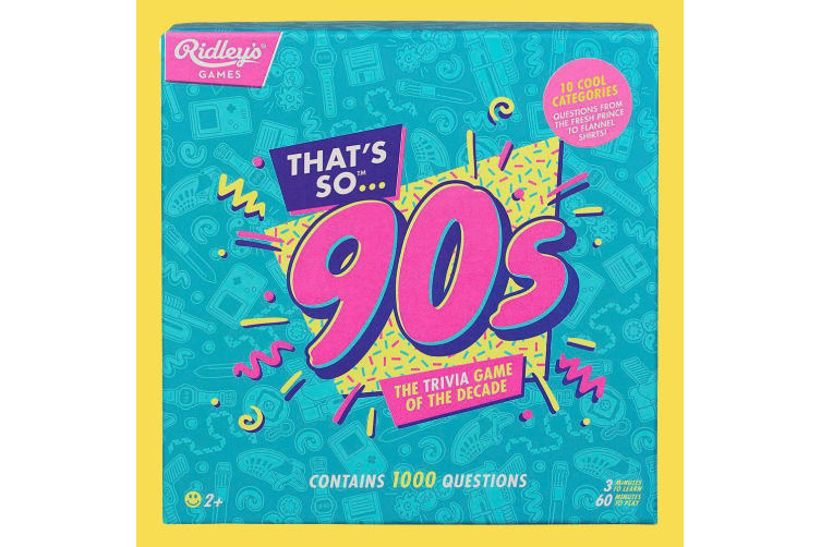 The Trivia Game of the Decade - Choose 80s or 90s - Eighties