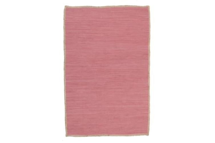 Reno Cotton and Jute Rug Pink 320x230cm