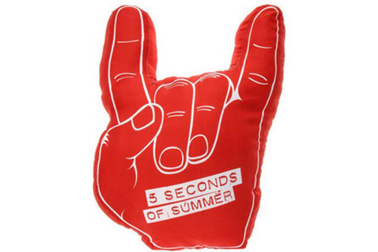5 Seconds Of Summer Cushion (Red/White) (One Size)