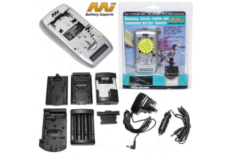 Lithium Ion Video, Camcorder  Digital Camera + NiCDNiMH AA-AAA Battery Charger