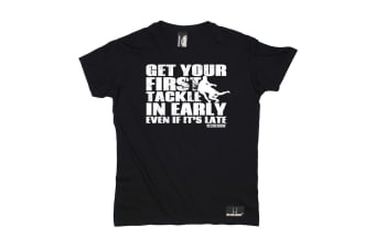 Up And Under Rugby Tee - Get Your First Tackle Mens T-Shirt