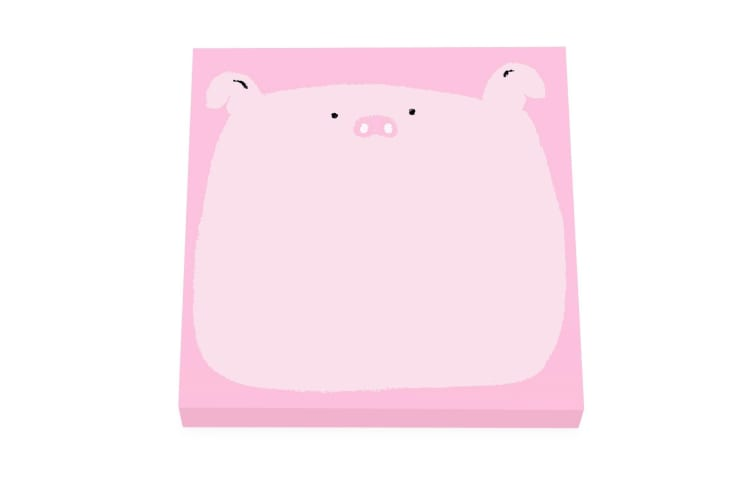 Ohh Deer Cute Piggle Sticky Notes (Pink) (One Size)