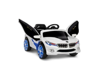 Kids Ride on Car with Remote Control (Blue/White)
