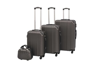 vidaXL Four Piece Hardcase Trolley Set Anthracite