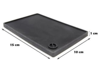 Compact Rubber Coffee Bench Tamper Holder And Tamping Mat For Baristas 15 x 10cm
