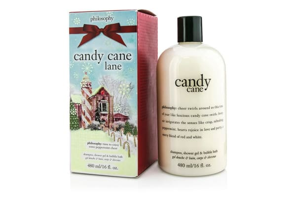 Philosophy Candy Cane Lane Shampoo, Shower Gel & Bubble Bath (480ml/16oz)