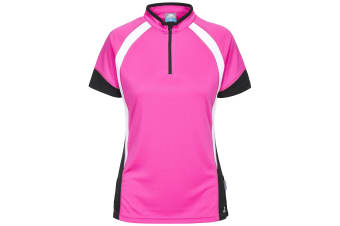 Trespass Womens/Ladies Harpa Short Sleeve Cycling Top (Pink Glow)