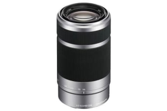New Sony E 55-210mm F4.5-6.3 OSS Silver Lens (FREE DELIVERY + 1 YEAR AU WARRANTY)
