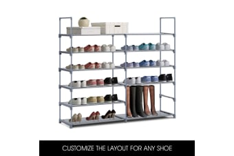 6 Tier Shoe Rack Storage Organiser Self - 36 Pairs