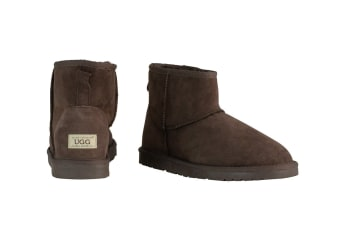 OZWEAR Connection Classic Mini Ugg Boots (Chocolate)