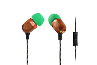 House Of Marley EM-JE041-RA Smile Jamaica Wood In-Ear Headset Earphones w/Mic