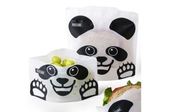 Russbe Snack & Sandwich Bag Set of 4 Panda