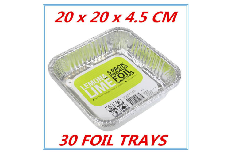 30 x Aluminum Foil Trays BBQ Disposable Roasting takeaway Oven Baking Party NO lid