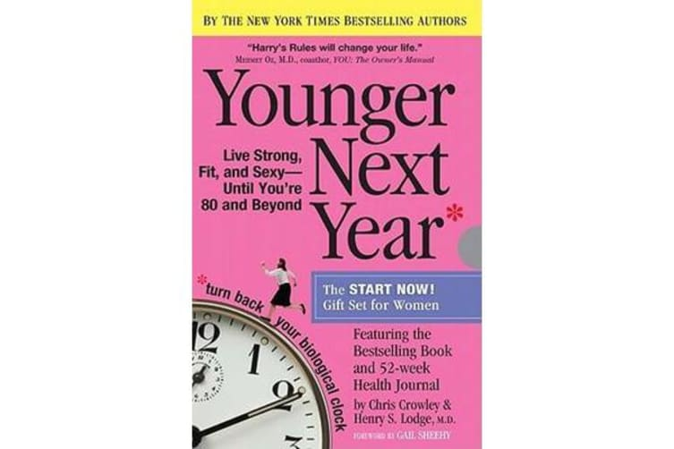 Younger Next Year the Book & Journal Gift Set for Women