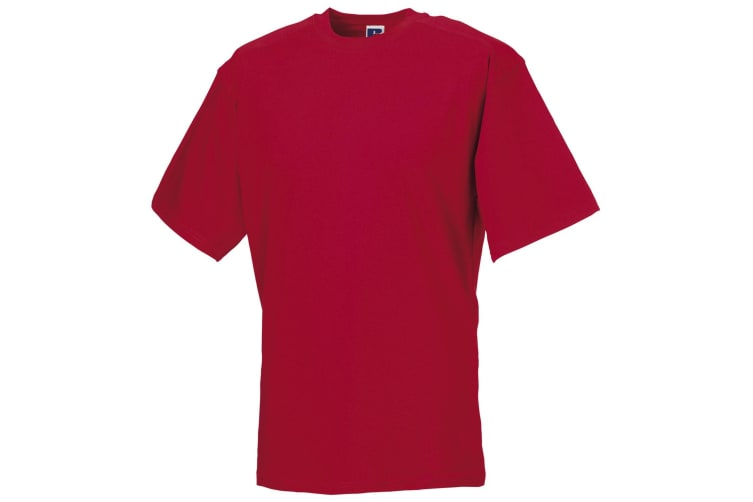 Russell Europe Mens Workwear Short Sleeve Cotton T-Shirt (Classic Red) (XL)