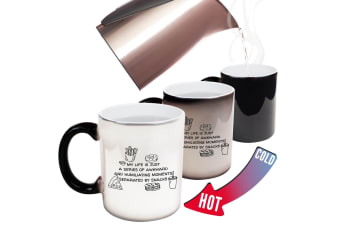 123T Funny Colour Changing Mugs - My Life Is Just A Series Of Awkward And Humiliating Moments