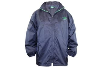 Duke Mens Zac Kingsize D555 Packaway Weather Proof Rain Jacket (Navy)