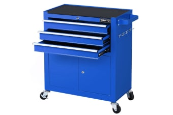 Giantz Tool Box Chest Trolley Cart Kit Cabinet Drawers Garage Toolbox Set Blue