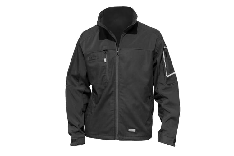 Result Mens Sabre Stretch Work Performance Jacket (Black) (M)