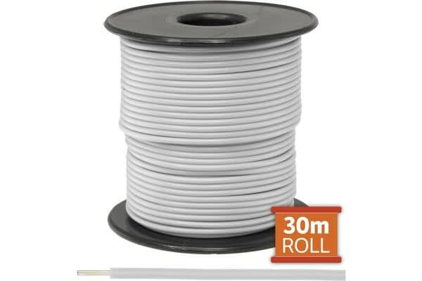 Doss 30M White Hookup Wire/Cable