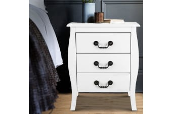 Artiss Bedside Tables Drawers Side Table Nightstand White Cabinet French Lamp