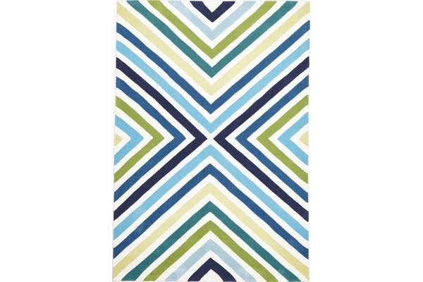 Cross Roads Design Rug Blue Green 280x190cm