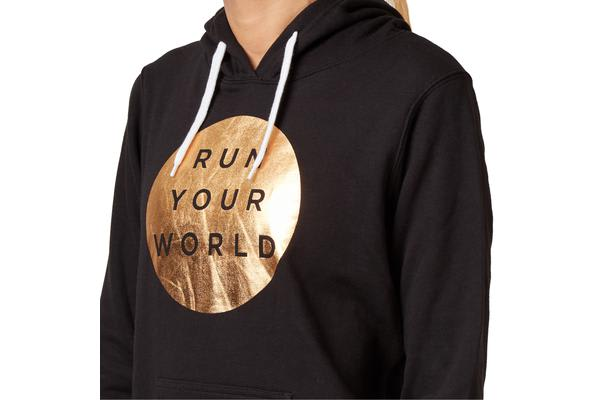 Saucony Run Your World Circle Hoody Jumper (Black, Size S)