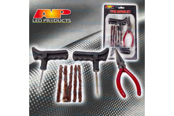 AP AUTO TYRE PUNCTURE REPAIR KIT 8 PIECE TIRE 4X4 4WD OFF ROAD PLUGS TUBELESS