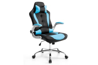 Adjustable PU Gaming & Racing chair Office Computer Chair - Black