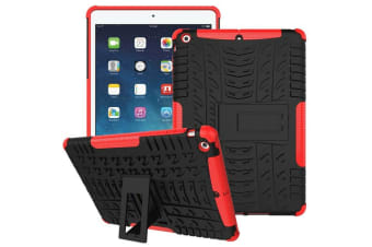 Heavy Duty Shockproof Case Cover Apple iPad 5 9.7 2017-Red