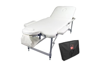 Aluminium Portable Massage Table 75cm - WHITE