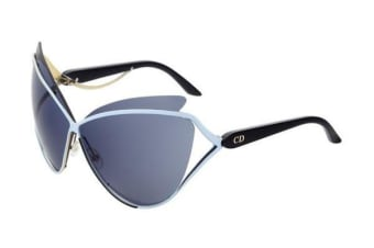 Christian Dior Audacieuse - Blue Gold Black (Avio Blue lens) Womens Sunglasses