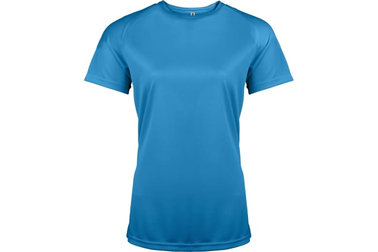 Kariban Proact Womens Performance Sports / Training T-shirt (Aqua Blue) (M)
