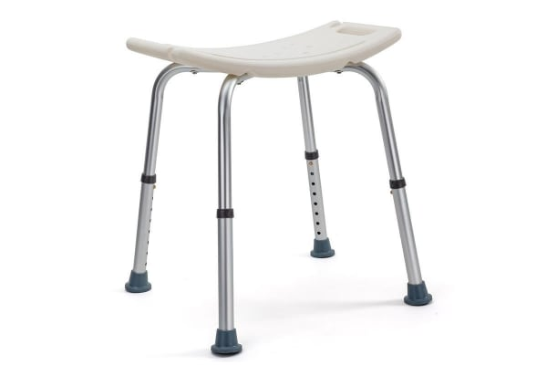 NEW Equipmed Shower Chair Stool - 100kg Adjustable Bath Seat Bench Aid