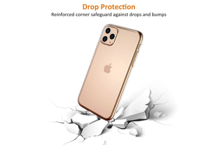 """Apple iPhone 11 Pro (5.8"""") Ultra Slim Premium Crystal Clear TPU Gel Back Case by MEZON – Wireless Charging Compatible – With Screen Protector (iPhone 11 Pro, Gel)"""