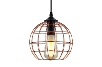 Artiss Pendant Light Modern Ceiling Lighting Metal Caged Wire Lamp Bar Home Gold