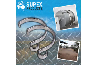 2x SUPEX ROLLOUT AWNING ROPE CLIPS TIE DOWN STAINLESS STEEL OUTSIDE SUIT DOMETIC