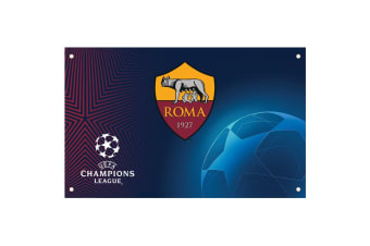 AS Roma Champions League Flag (Multicoloured)