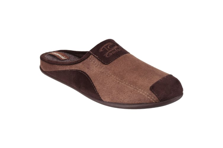 Cotswold Mens Westwell Slip On Mule Slippers (Brown) (6.5 UK)
