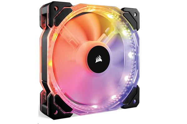 CORSAIR HD120 RGB Individually Addressable LED Static Pressure Fan with Controller (1 FAN + 1