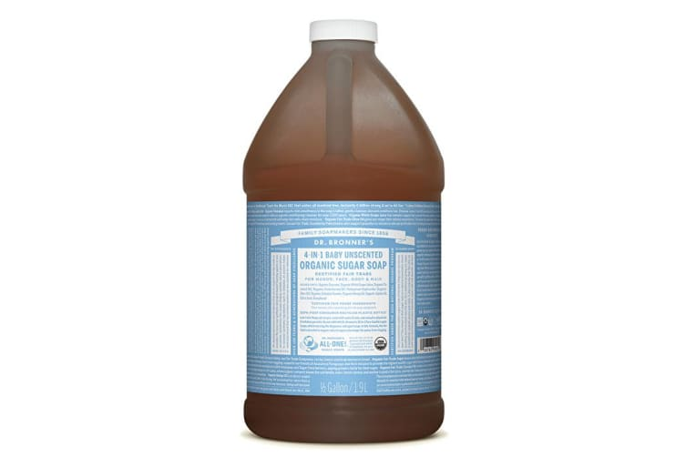 Dr. Bronner's Organic Pump Soap Refill (Sugar 4-in-1) Baby Unscented 1900ml