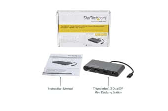 StarTech.com Dual 4K Monitor Mini Thunderbolt 3 Dock with DisplayPort