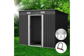 Garden Shed 2.38x1.31M Storage Sheds Tool Outdoor Workshop Base