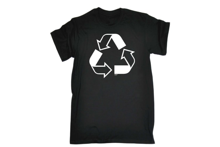 123T Funny Tee - Recycle - (3X-Large Black Mens T Shirt)
